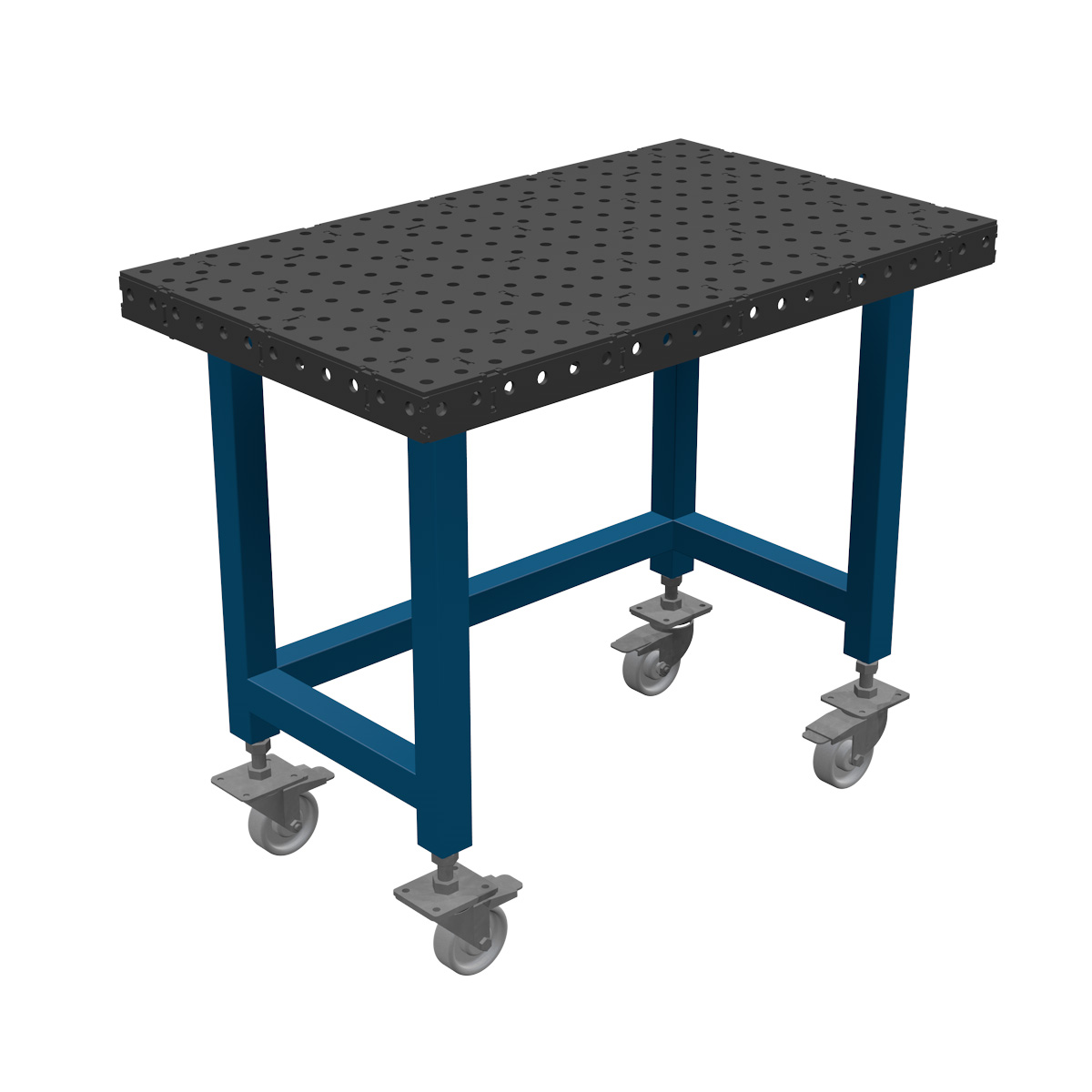 AASCO EP600X1000F16JPO - stół montażowo spawalniczy. Wersja z otwartą konstrukcją nóg ułatwiającą prace na siedząco.