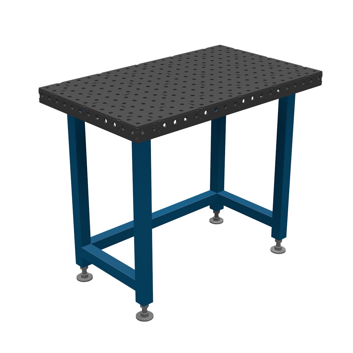 AASCO EP600X1000F16PO - stół montażowo spawalniczy. Wersja z otwartą konstrukcją nóg ułatwiającą prace na siedząco.