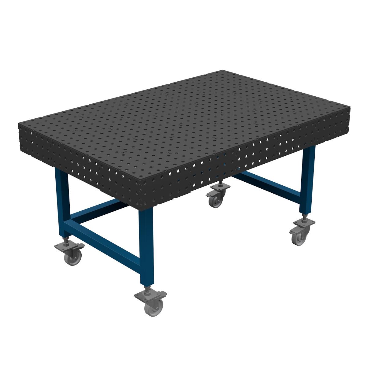 AASCO P1500X1000F16JPO - stół montażowo spawalniczy. Wersja z otwartą konstrukcją nóg ułatwiającą prace na siedząco.