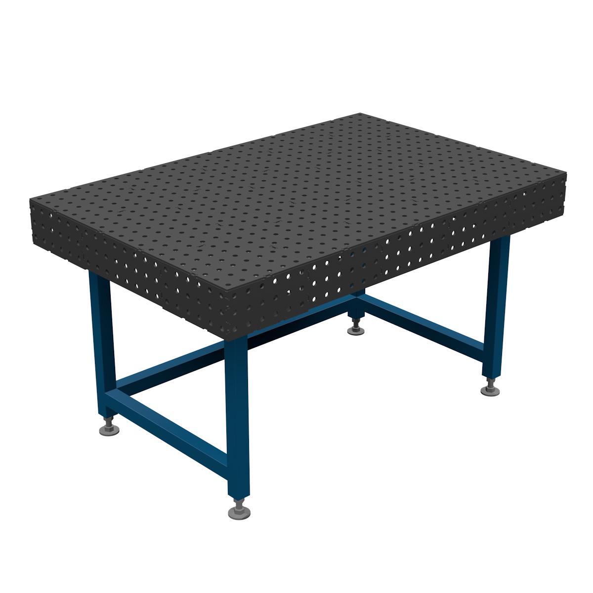 AASCO P1500X1000F16PO - stół montażowo spawalniczy. Wersja z otwartą konstrukcją nóg ułatwiającą prace na siedząco.